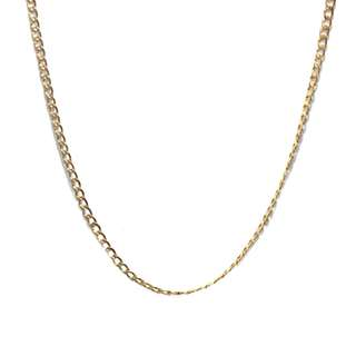 Just Jewels Curb Link Chain Necklace Yellow Gold