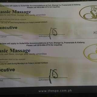 The Spa Executive Classic Massage