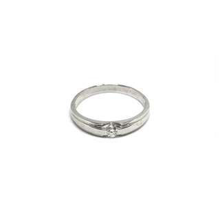 Just Jewels Tiffany Lady Ring with Diamonds White Gold