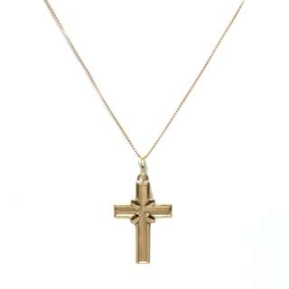 Just Jewels Long Whisper Chain Necklace with Cross Pendant