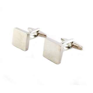 Houseofcuff Cufflinks Manset Kancing Kemeja French Cuff SILVER SQUARE CUFFLINKS