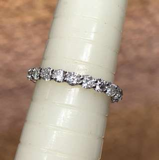 Pt900 diamond ring