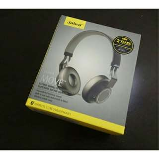 New Sealed Jabra Move Wireless Headphones (Coal Black)