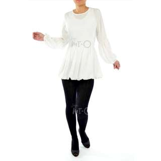 Farah Bubble Sleeve Top in Ivory