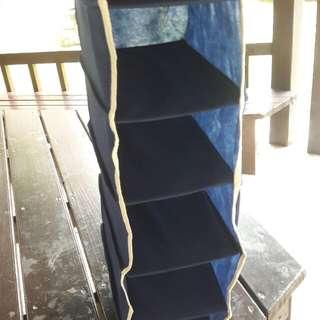 可收納衣櫃分層架