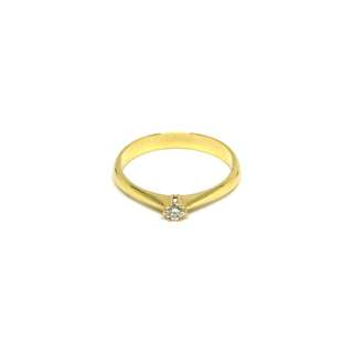 Just Jewels Tiffany Lady Ring with Diamonds Yellow Gold