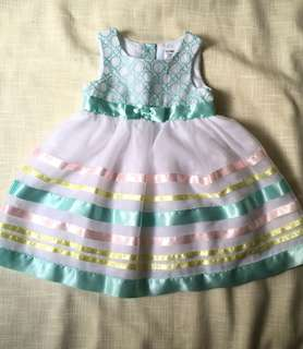 Charity Sale! Authentic George Baby Girl Dress Size 18-24 Months Embroidered Tutu Vintage