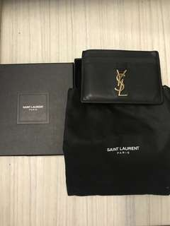 SAINT LAURENT ,YSL card holder ,99%new and 100%real