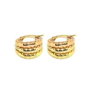 Just Jewels Hoop Earrings Tri-color