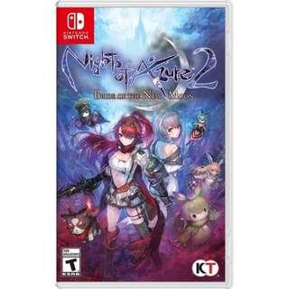 Nights Of Azure 2 EU Nintendo Switch