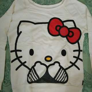 Sweater putih hello kitty