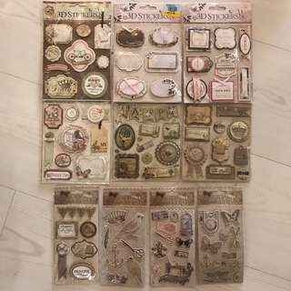 Scrapbook 3D stickers