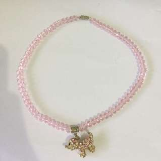 Puppy Sparkling Necklace for girls