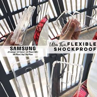 Ultra Thin TPU Flexible Shockproof Samsung S9 S9 Plus S8 S8 Plus S9+ S8+ J7 Plus 2015 Core