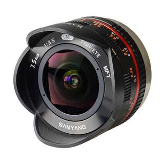 Samyang 7.5mm f3.5 UMC Fisheye Lens (M4/3 MFT Micro Four Third Mount) Brand New