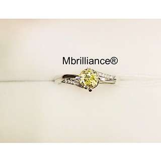 Natural fancy yellow diamond VS2 Solitaire ring 18k solid gold engagement Wedding ring