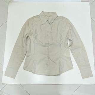 清櫃!全新G2000米色/淺啡色長袖裇衫