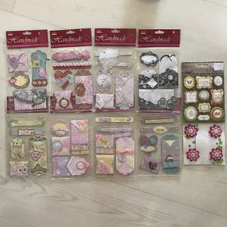 Scrapbook stickers or embellishment