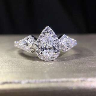 GIA水滴鑽石戒指