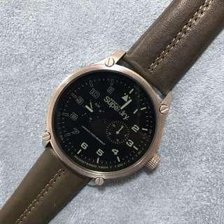 Superdry 男裝皮帶手錶