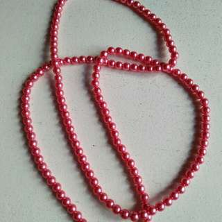 pink necklace