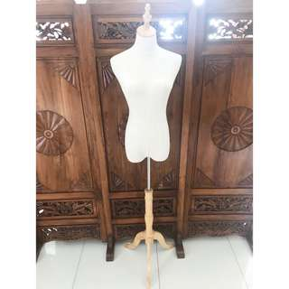 Fabric Mannequin with Wooden Stand