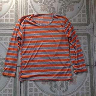 orange/silver long sleeve