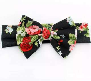 Baby Girl/Toddler Floral Bow Headband