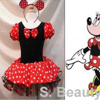 New Disney Minnie Mouse costume dress 全新米尼老鼠造型服