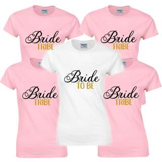 Customised Hen Party T-Shirt Bride Tribe