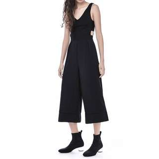 TEM CUT OUT OVERALL WIDE LEG JUMPSUIT