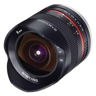 Samyang 8mm f2.8 II UMC Fisheye Lens (Sony E, Fujifilm X, Canon M) *NEW*