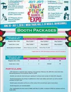 ANGAT PINOY EXPO BOOTH PACKAGE EARLY BIRD RATE