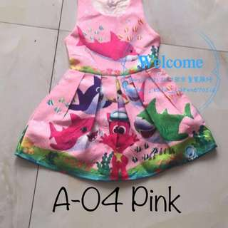 Ready Stock Baby Shark Dress