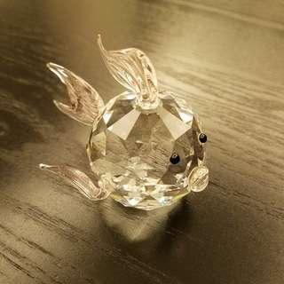 金魚水晶擺設