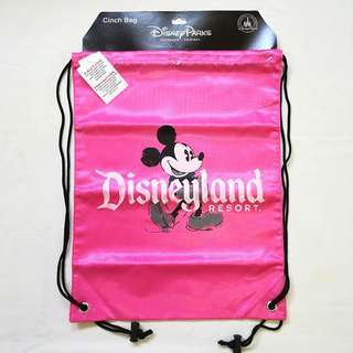 Disney Parks Mickey Mouse Cinch / Drawstring Bag