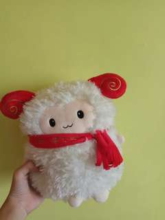 CNY [year of sheep/goat] plushie from Golden Village