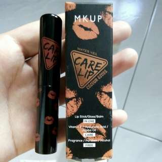Mkup Care Lip Stick/gloss/balm all in one