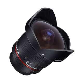 Samyang 8mm f3.5 Fisheye CS II Lens (Detachable Hood) (Canon Nikon Fujifilm Sony Mount)