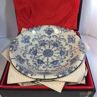 vintage japan plate set