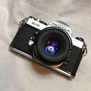 PENTAX KM & 50mm lens.