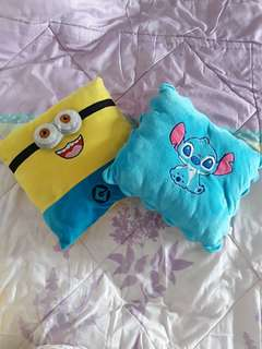 Stitch and Minion Pillow