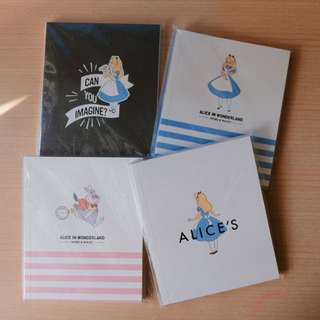 ALICE IN WONDERLAND NOTEBOOK 愛麗絲夢遊仙境 筆記簿