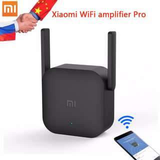Xiaomi WIFI Repeater Amplifier Extender Pro Enhancement Booster Wireless Router with 2 Antenna Black