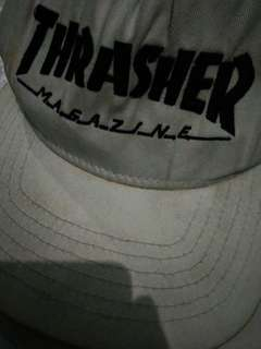 topi thrasher white