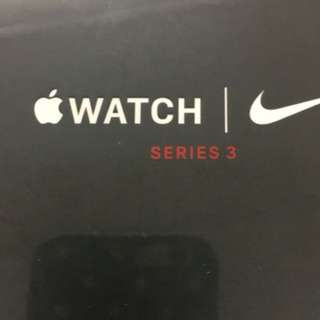 Apple Watch - Nike 38MM Silver Aluminium case/ bright crimson