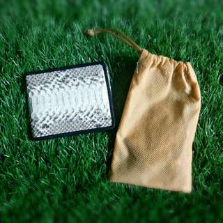 Dompet kulit ular asli