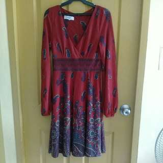 Tibi red paisley dress