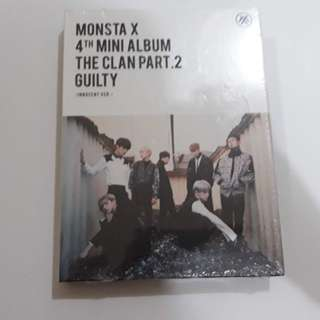 ON HAND SEALED MONSTA X Album- THE CLAN 2.5 PART.2 GUILTY (Innocent Ver.)