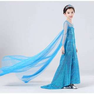 Frozen long dress high class